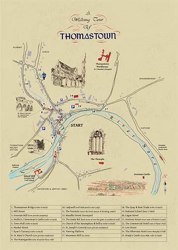 walking tour of thomastown map